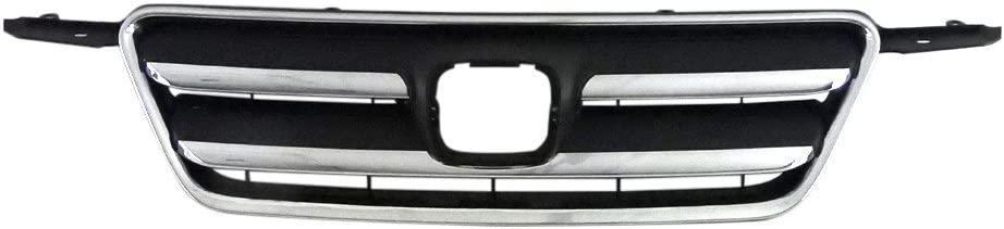 Perfit Liner New Front Dark Gray Grille Grill Replacement With Chrome Molding For 05-06 Honda CR-V Fits HO1200194 71122S9AA01-PFM