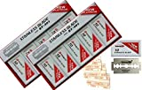 Dorco Double Edge Razor platinum stainless Blades Red ST 301- Stainless (2 Boxes = 200 Blades)