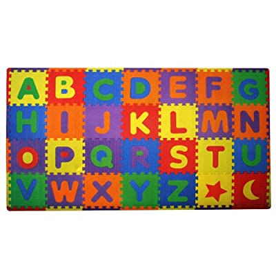 Build Plus Play 56-piece Build And Play Alphabets Play Mat 7 X 4 by Build Plus Play