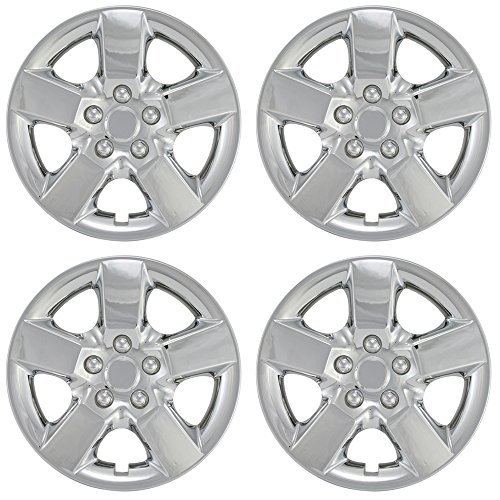 (Hub-caps for 08-13 Nissan Rogue (Pack of 4) Wheel Covers 16 inch Snap On Chrome)