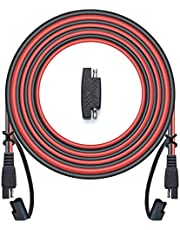 POWISER 25Feet SAE to SAE Extension Cable Quick Disconnect Connector 16AWG,for Automotive,Solar Panel Panel SAE Plug(25FT(16AWG))