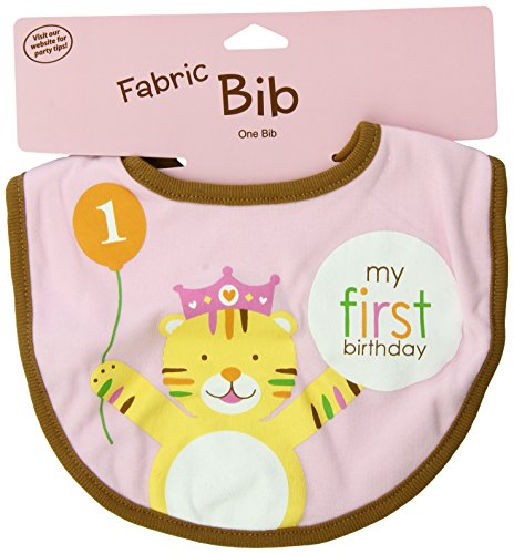 Creative Converting Sweet at One Girls First Birthday Fabric Bib -