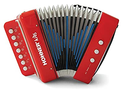 Hohner Kids UC102R Musical Toy Accordion Effect by Hohner
