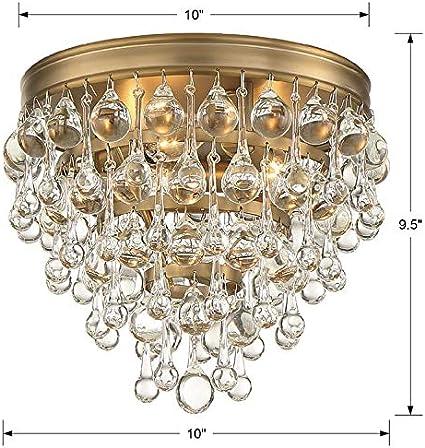 Calypso 3 Light Vibrant Gold Flush Mount Home Kitchen Amazon Com