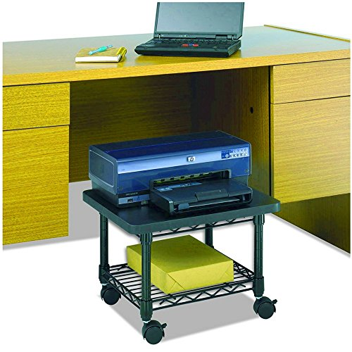 Mobile Printer Stand Under Desk Storage Shelve Portable Scanner Machine Cart Wire Management Office Organizer Functional Contemporary Casters Steel & eBook by BADAshop by BS