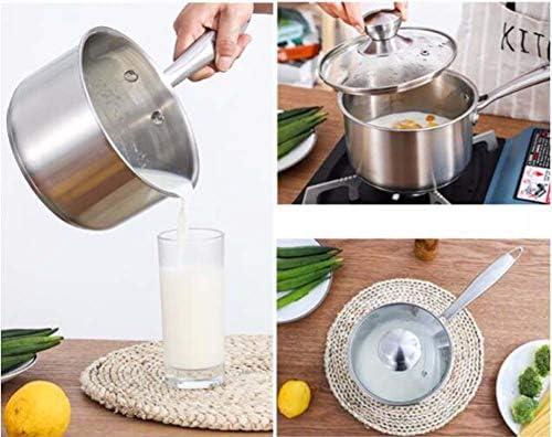 Chairk Pot de Lait en Acier Inoxydable épaississement ménage bébé Aliment supplément Lait Chaud Pot Non-adhésif Lait Mini Soupe Pot 1.5 L
