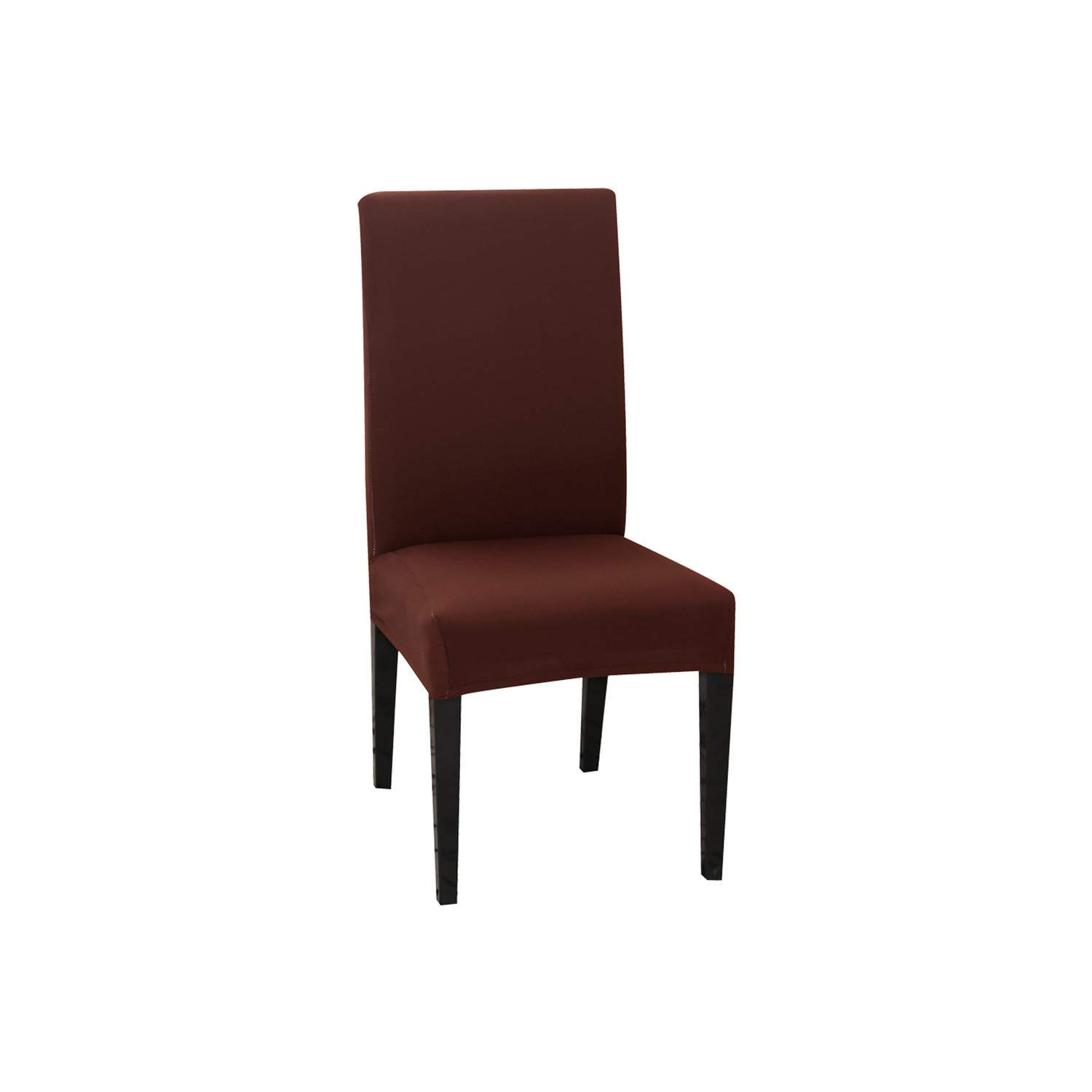 1/2/4PCS Solid Color Chair Cover Spandex Stretch Elastic Slipcovers Chair Covers White for Dining Room Banquet Kitchen Wedding,Light Coffee,China,1PC