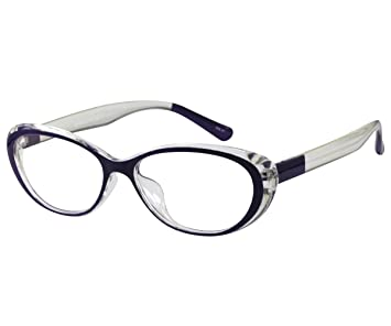 45e83be560 Image Unavailable. Image not available for. Color  EyeBuyExpress Reading  Glasses Women Cat Eye Violet Unique