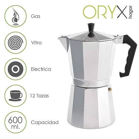 Oryx 5056014 Cafetera Aluminio 12 Tazas, 600 ML