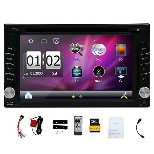 GPS Navigation In-Dash 6.2'' 2 DIN Car Dvd Player Vehicle Headunit Car Stereo Video Audio Radio Auto