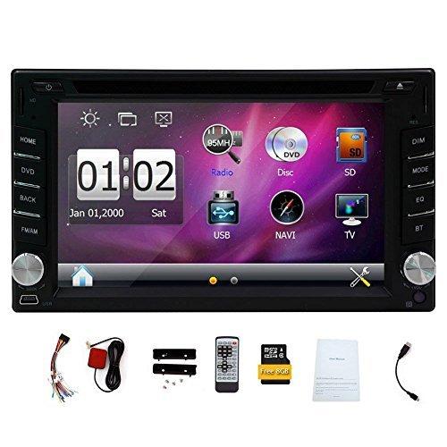 GPS Navigation In-Dash 6.2'' 2 DIN Car Dvd Player Vehicle Headunit Car Stereo Video Audio Radio Auto by EinCar