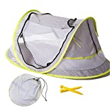 Large Baby Portable Beach Play Tent Provide UPF 50+ Sun Shelter,Baby Travel Bed with 2 Pegs,Lightweight Pop up Baby Mosquito Net