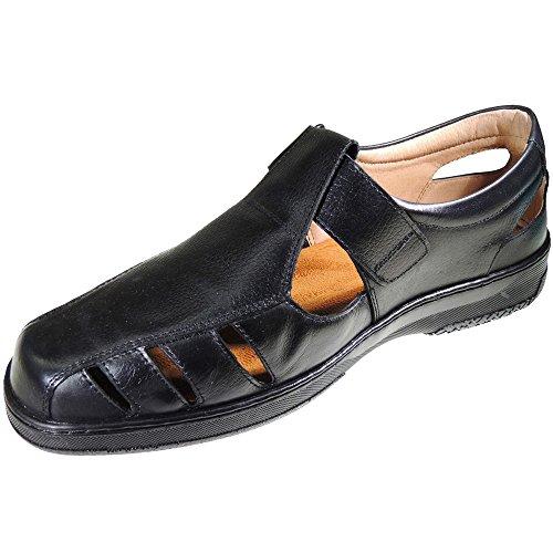 RIMOCX. Sandalia en Piel de Gama Alta para Hombre - Modelo Sandal Negro