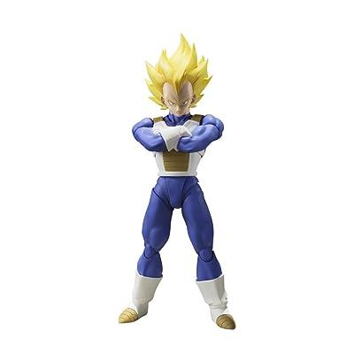 "Bandai Tamashii Nations S.H. Figuarts Super Saiyan Vegeta (Cell Saga) ""Dragon Ball Z"" Action Figure: Toys & Games"