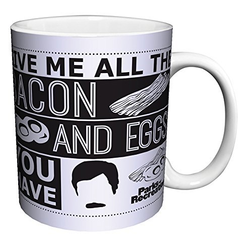 (Parks and Recreation Ron Swanson All the Bacon Quote Workplace Comedy TV Television Show Ceramic Gift Coffee (Tea, Cocoa) Mug, 11)