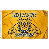 North Carolina A&T Aggies Large Gold 3x5 College Flag
