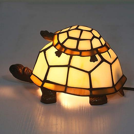 Lámpara De Mesa Estilo Tiffany Forma De Tortuga Lámpara De ...