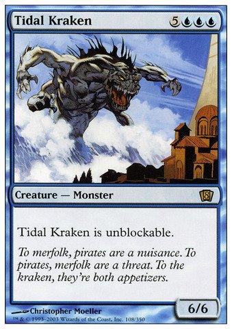 Magic: the Gathering - Tidal Kraken - Eighth Edition - Foil
