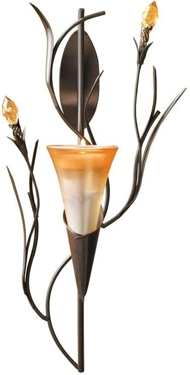 Dawn Lily Candle Holder Home Accent Decor Wall Sconce: Home & Kitchen