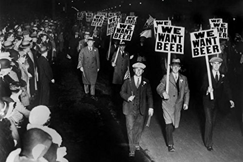 Pyramid America We Want Beer Signs Protest Against Prohibition Photo Poster 36x24 inch