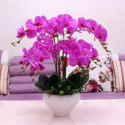 Arreglos Florales Lsrht Flores Artificiales Orchid Púrpura