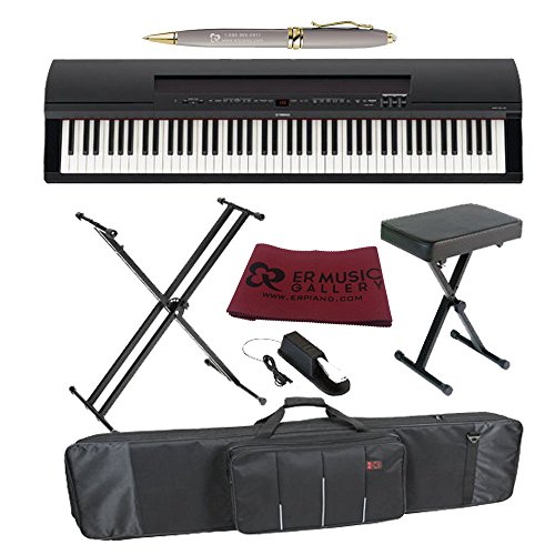 Yamaha p255b 88 keys graded hammer weighted action keys for Yamaha digital piano controller