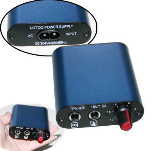 One Tattoo World Professional Tattoo Blue Mini Power Supply, OTW-P034-3 (Blue Star Power Supply)
