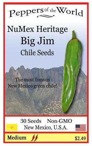 Seeds - Heritage Variety - 30 Seeds From New Mexico (New Mexico Chile Peppers)