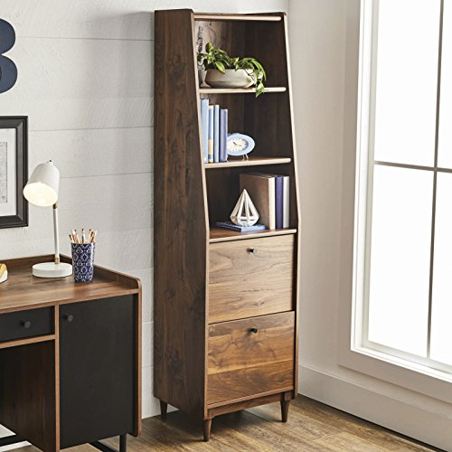Better Homes and Gardens Montclair 3 Shelf Bookcase w/Drawers, Vintage Walnut Finish
