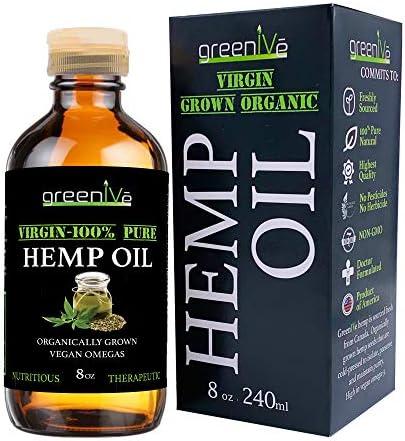GreenIVe - Hemp Oil - Vegan Omegas - Cold Pressed - Exclusively on Amazon (8oz)