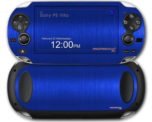 Amazon.com: Sony PS Vita Skin Brushed Metal Blue by ...
