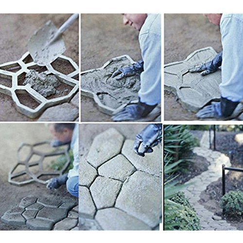 This concrete board is design for DIY lovers, who want to decorate their garden road as they like, to give their pavement and yards some artistic sense
