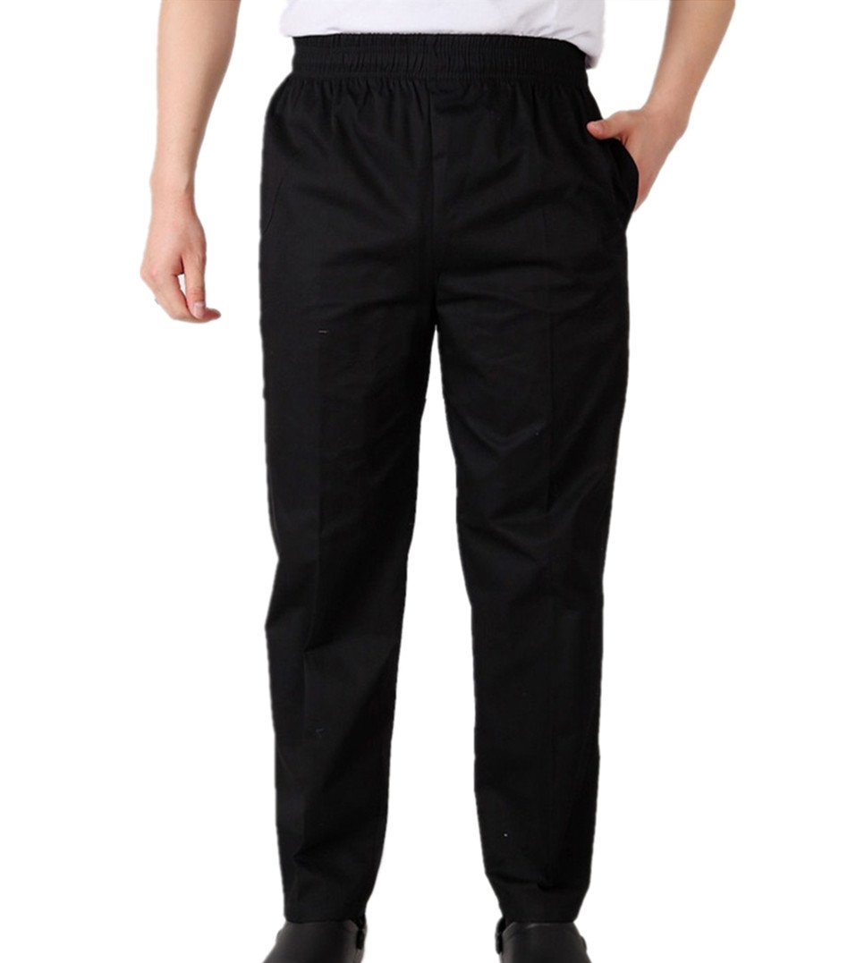 WAIWAIZUI Chef Pants Work Pant Baggy Mens Pants Black (US:XL (Label:4XL))