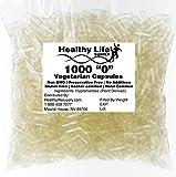 Empty Vegetarian Capsules - 1000 Size