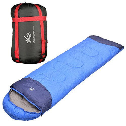 BESTEAM-Big-and-Tall-866x30in-Warm-Weather-Polyester-Sleeping-Bag-for-Boys-Girls-Men-Women-Kids-Adults-Portable-for-Camping-Hiking-Travelling-Backpacking