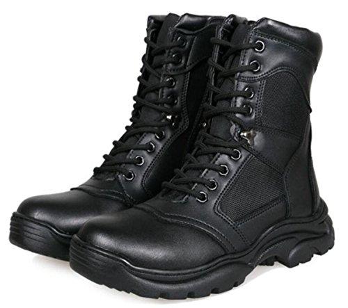 Männer High-Help-Stiefel Sport Freizeit Schuhe Größe 38-44, Schwarz