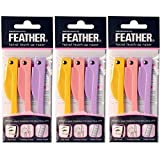 Feather Flamingo Facial Touch-up Razor ( 3 Razors X 3 Pack )
