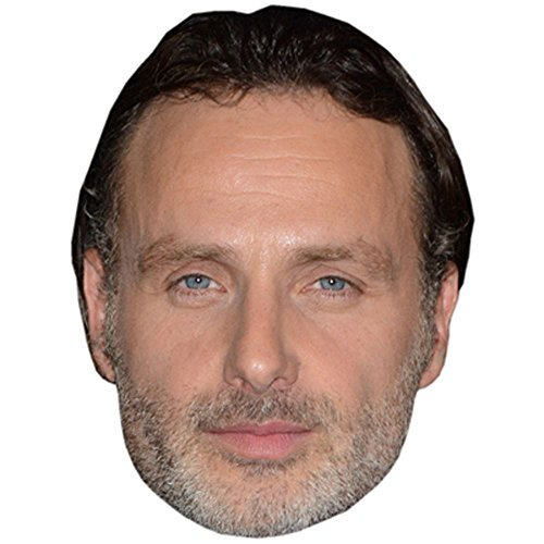 Andrew Lincoln Celebrity Mask, Card Face and Fancy Dress -