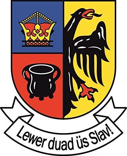 U24 Aufkleber Nordfriesland Wappen Mit Schrift Autoaufkleber Sticker Konturschnitt Auto