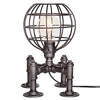 Vintage Industrial Table Lamp Steampunk Table Light Rustic Water