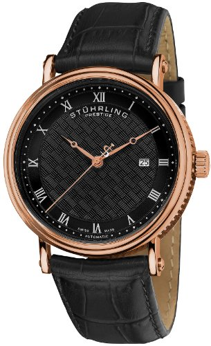 Stuhrling Prestige Men's 358.334K1 Prestige Swiss Made Tradition Automatic Date Brown Watch