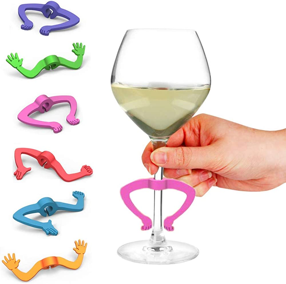 Charades Gesturing Drink Markers, Set of 6