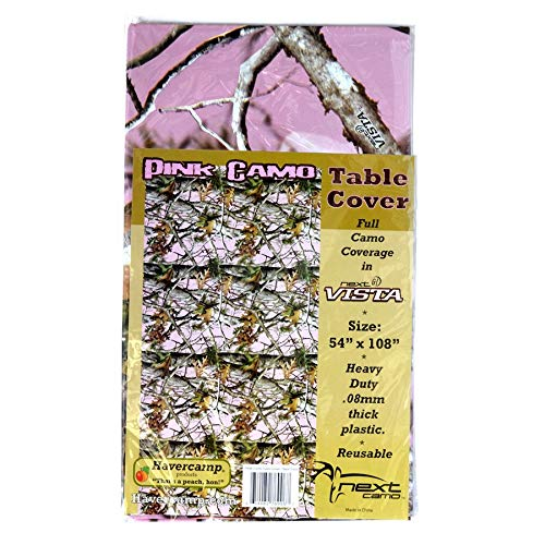 Pink Camo Table Cover (54