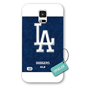 Onelee(TM) - MLB Team Los Angeles Dodgers Logo Samsung Galaxy S5 Case & Cover - White Frosted