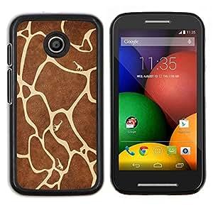TECHCASE---Cubierta de la caja de protección para la piel dura ** Motorola Moto E ( 1st Generation ) ** --Modelo de la jirafa