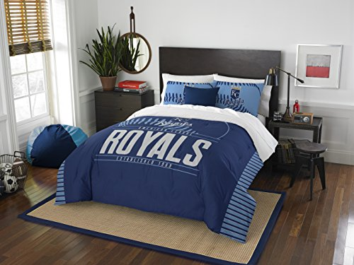 Officially Licensed MLB Kansas City Royals Grandslam Full/Queen Comforter and 2 Sham - Fleece Kansas Royals City
