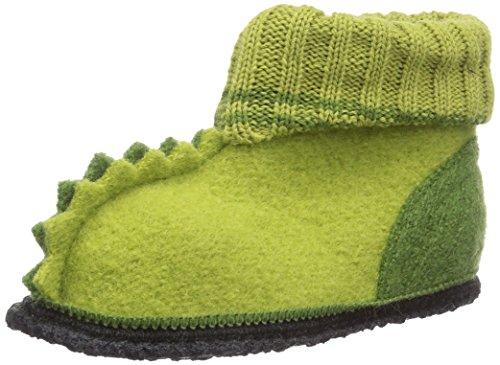 Beck Nessi - Zapatillas de estar por casa Unisex niños Grün (09)