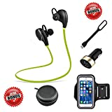 2016 CoolKo Newest Sport Wireless Bluetooth Stereo Sweatproof Headphone for Running Gym Exercise with Microphone for iPhone 7 7Plus 6 6s 6Plus 5s Samsung and all Android Phones