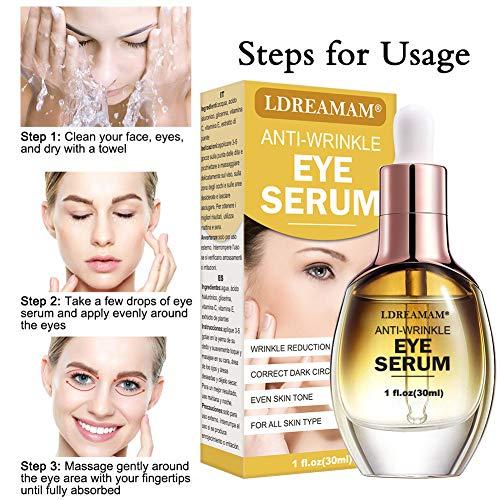 51Dxgcpp%2BtL - Eye Serum,Under Eye Cream,Anti Wrinkle Eye Serum,Anti Ageing Eye Serum,Hydrating Eye Serum,For Dark Circles, Puffiness - Reduces Wrinkles, Bags, Saggy Skin & Puffy Eyes Great Eye Treatment