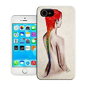 Unique Phone Case The girl creative collage art Toxicity Hard Cover for 4.7 inches iPhone 6 cases-buythecase
